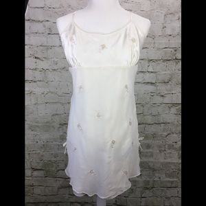 Valerie Stevens Ivory Babydoll  Sleepwear Dress